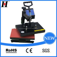 QX-A10-B munual shaking head heat transfer machine heat press machine cheap used t shirt heat press machine