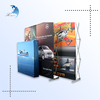 high resolution advertising plastic poster windows display rack/case