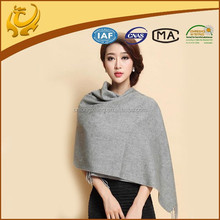 2015 New Style Wide Length Solid Color Yarn Dyed Wholesale Winter 100% CashMere Shawl For Womens