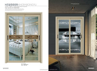 New design aluminum sliding window with double glass