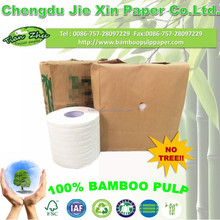 exquisite packing high class enviromental bamboo tissue toilet paper in kraft paper/brown paper