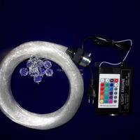 16W RF RGB engine+mixed diameter led star ceiling optical fiber kit;150pcs 0.75mm+80pcs 1.0mm+8pcs 1.5mm 3m long