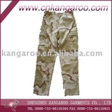 Middle east desert camouflage ripstop cotton blended side cargo pockets army field tactical pants