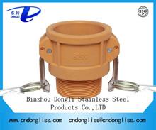 hot sale best price Type B Plastic Quick coupling hose connectors, nylon Camlock Coupling