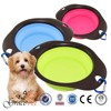 2015 Grace Pet New product dog foldable silicone folding bowl
