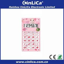 8 digit mini pocket cute child calculator with bibi sound CA-608