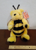 """bee plush stuffed toys/11"""" Plush Bumble bee Bear with wings Movable joint legs stuffed animal"""