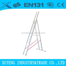stairs 9meter telescope,Aluminium super triple section extension ladder