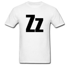 2015 Hot Sale Brief Style Zz Helvetica Alphabet Logo T-shirt Unique Custom mens tshirt Plus Size S-3XL Tops