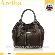 high quality fashion cow genuine leather bag women brown golden glossy handbag