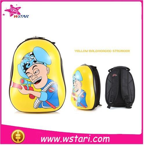 moda kabuğu okul çantası sarı baldheaded için güçlü çocuklar hayvan sırt çantası satılık