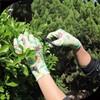 SRSAFETY PU coated printed glass weeding garden work gloves
