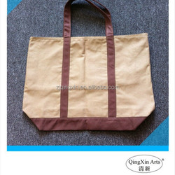 High quality casual mens beige canvas tote bag