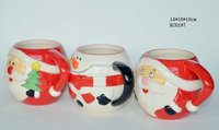 santa &snowman Christmas Ceramic Mugs for coffee