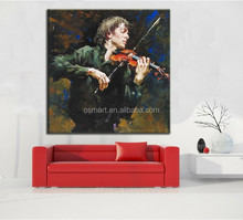 Wall art oil painting on canvas ideas for painting modern paintings handsome male with music instrument instrumental wall decor