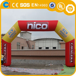Customized Design Inflatable Orange Arch, Inflatable archway with logo, advertising inflatable archway