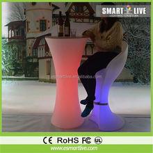 illuminated led bar table Garden Furniture/Colorful portable bar table,
