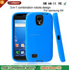 wholesale phone case factory Silicone Robot Cell Phone for Samsung Galaxy S4 I9500 Soft round Shell Case