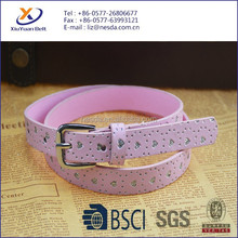 2015 New Style Coloful Girls Belt/Kids PU Belt With Shining Hearts