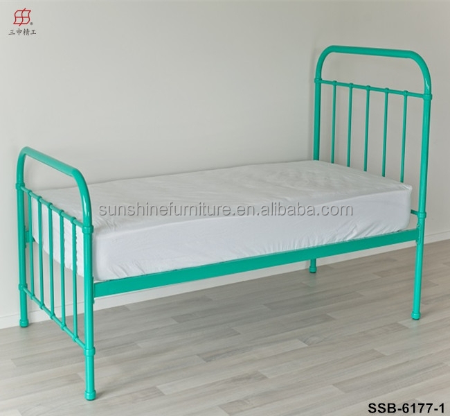 china factory cheap bedroom furniture metal narrow single. Black Bedroom Furniture Sets. Home Design Ideas