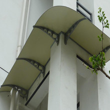High Quality ISO Certification Bayer Makrolon High Impact Strenght UV Solid Polycarbonate Sheet balcony awnings