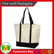 2015 Wholesale New 100% Recycled Cheap Tote Cotton Canvas Bag