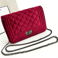 brand name handbags fashion handbag fashionable bags for teens suede leather chian bag SY5109