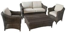 OEM outdoor furniture factory/ rattan outdoor sofa DH-N9053
