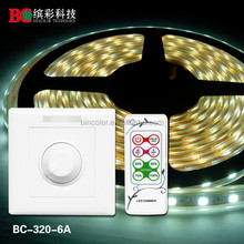 CE, FCC, ROHS Approved BC-320-6A sigle channel 72W remote control wall RF led dimmer 12V for led strip
