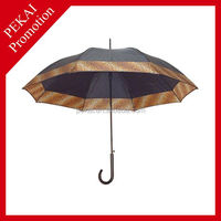 High quality satin straight umbrella with design logo for gifts