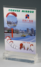 clear acrylic brochure holder display stand rack with base