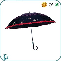Hot Sell Straight Handmade Material Wedding Souvenir Umbrella