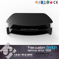 Wonderful design metal modern tv stand with glass top
