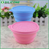 Alibaba express COL-01 fancy design silicone collapsible dog bowl