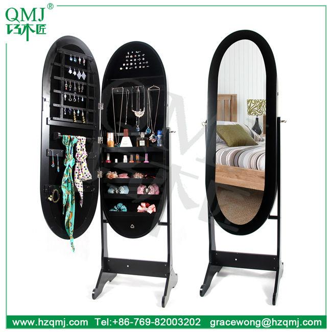 Muebles baratos joyería armario con espejo de cuerpo completo, sala ...
