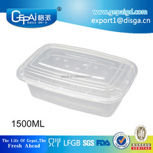BPA free pp take away disposable food container microwave safe