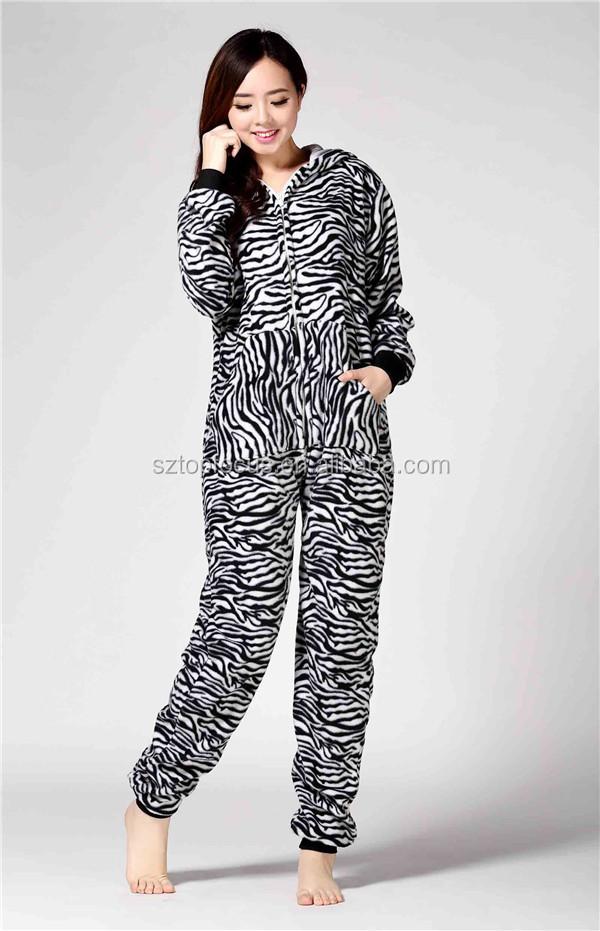 One piece femme le tigre stripepd adulte polaire pyjamas - Tigre polaire ...