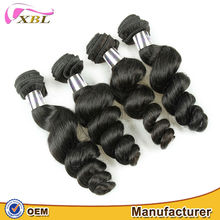 2015 factory price 8A romance curl remy Brazilian human hair weaves