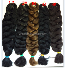 2015 Hot Sell, Expression Braiding Kanekalon Synthetic Hair Super Jumbo Braid for Black Women