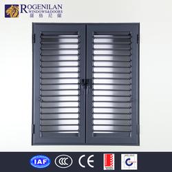 Rogenilan strong aluminum frame exterior louver design window aluminum window louver