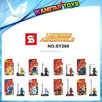 SY269 New Super Heroes 2 Justice League Flash Building Bricks Blocks Sets Education Toys