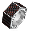 2015 hot sell vogue jewelry stainless steel & carbon fiber ring American style products china supplier