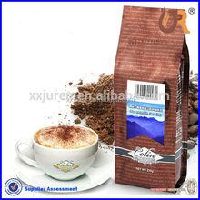 Impresión personalizada fuelle lateral empaquetado del grano de café