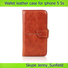 Cell phone accessories PU leather wallet case for iphone 5 5s, for iphone 5s case leather wallet ,for iphone case 5s 4s 6 wallet