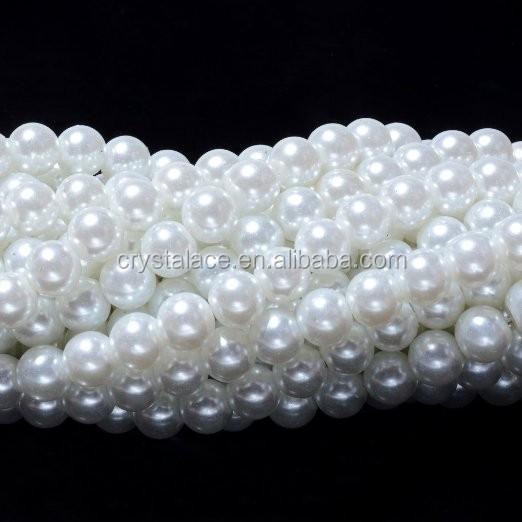 Marfim pérolas de imitação do falso Contas de Cristal pelo rolo para decoração de festa de casamento Flores