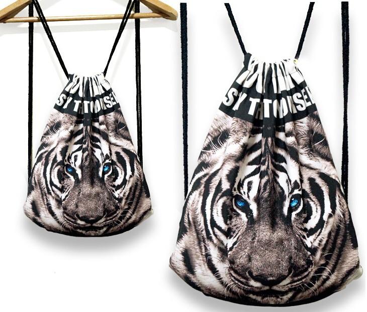 Новый мультфильм harajuku стиль рюкзак животных печатных ретро случайные шнурок рюкзак плеч рюкзак yw8016