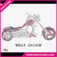 hot new products for rhinestone transfer motorcycle for t-shirt