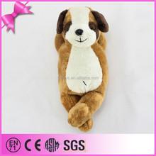 china kid toys fake fur sleeping dog,soft sleeping breathing toy dog,lifelike plush sleeping dog toy