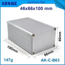 custom aluminum electric extrusion box power housing enclosure in silver color which can be cutstom color and length