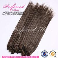 Hot sale 1b# mix with gray color virgin Malaysian hair extension accept Escrow